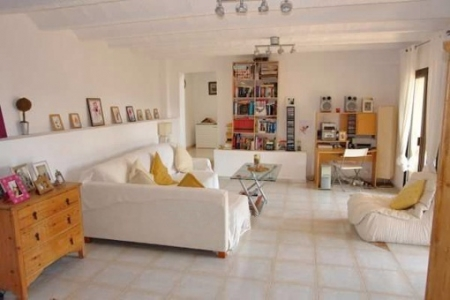One of the airy living rooms