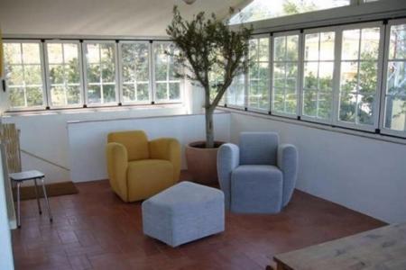 Gemütliche Sitzecke im Wintergarten